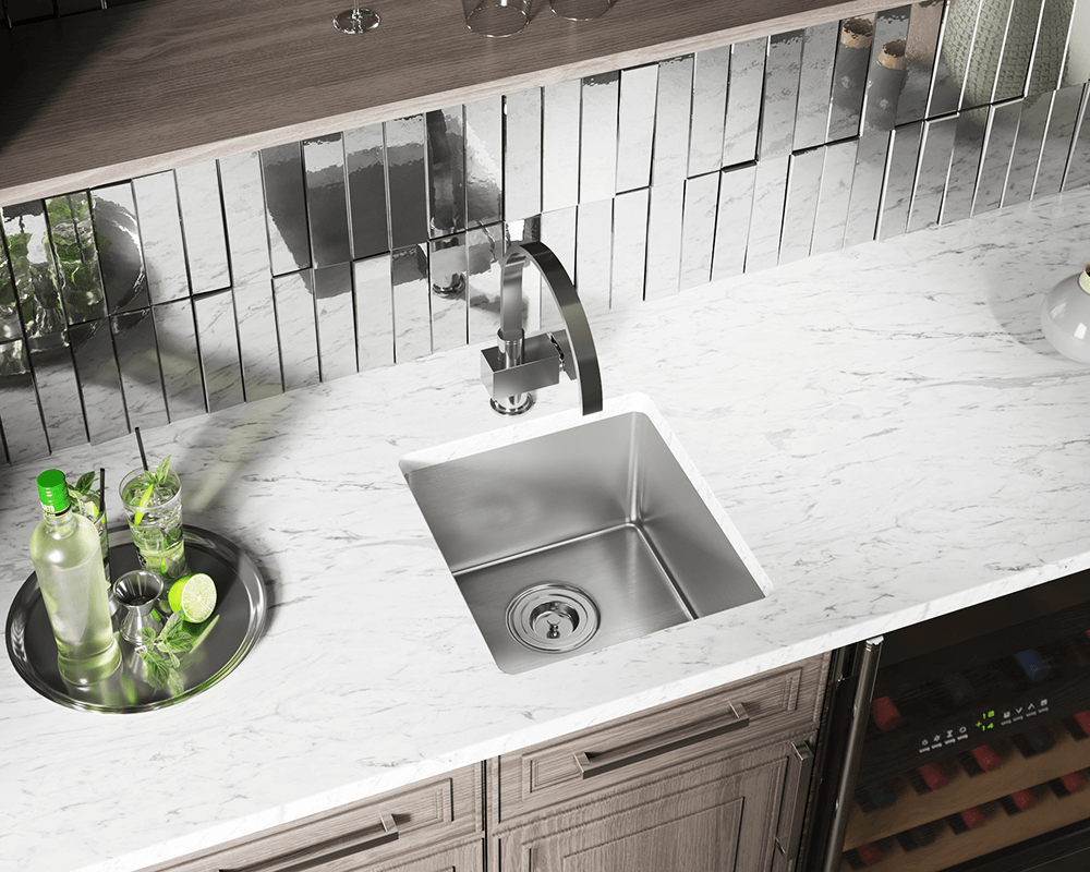 1618 Lifestyle Image: 304-Grade Stainless Steel Undermount Limited Lifetime One Bowl Kitchen Sink