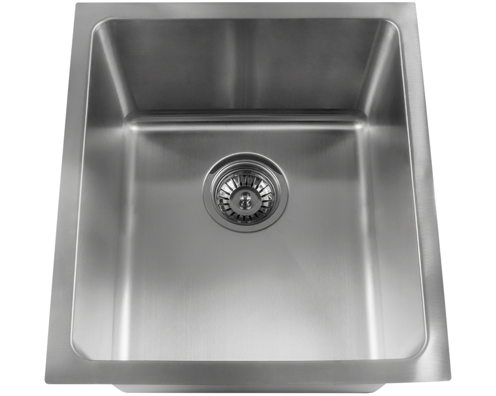"MR Direct 1618 Stainless Steel Single Bowl  3/4"" Radius Kitchen Sink"