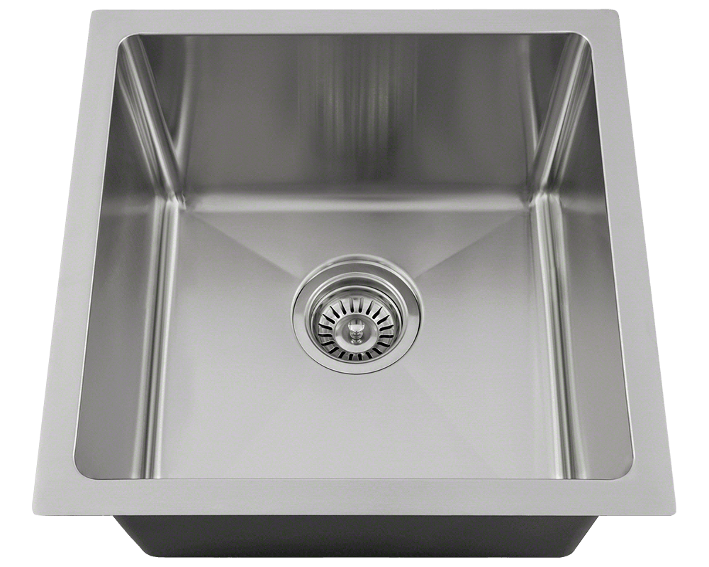 "MR Direct 1717 Single Bowl 3/4"" Radius Stainless Steel Sink"