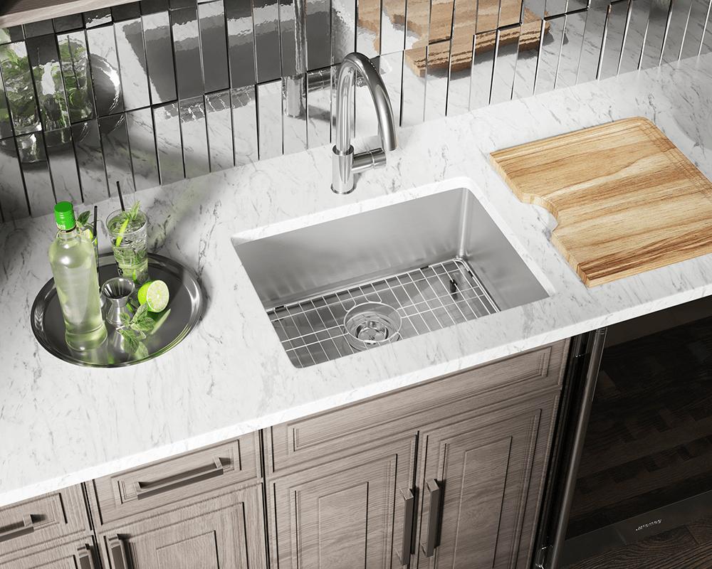 Single bowl single drain kitchen sinks stainless steel single bowl - 1823 Stainless Steel Single Bowl 3 4 Radius Kitchen Sink