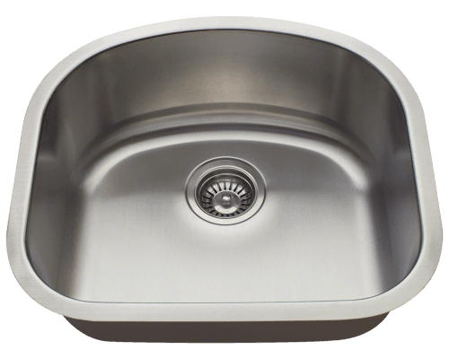 2118 D-Bowl Stainless Steel Sink