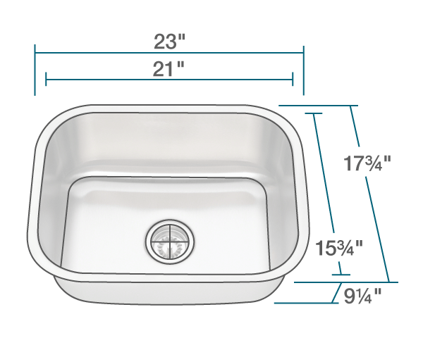 2318 single bowl stainless steel kitchen sink - Bowl Kitchen Sink