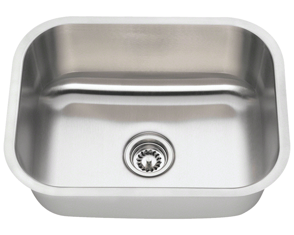 2318 single bowl stainless steel kitchen sink