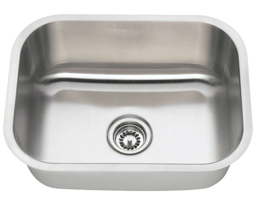 2318 single bowl stainless steel kitchen sink - Brushed Steel Kitchen Sinks