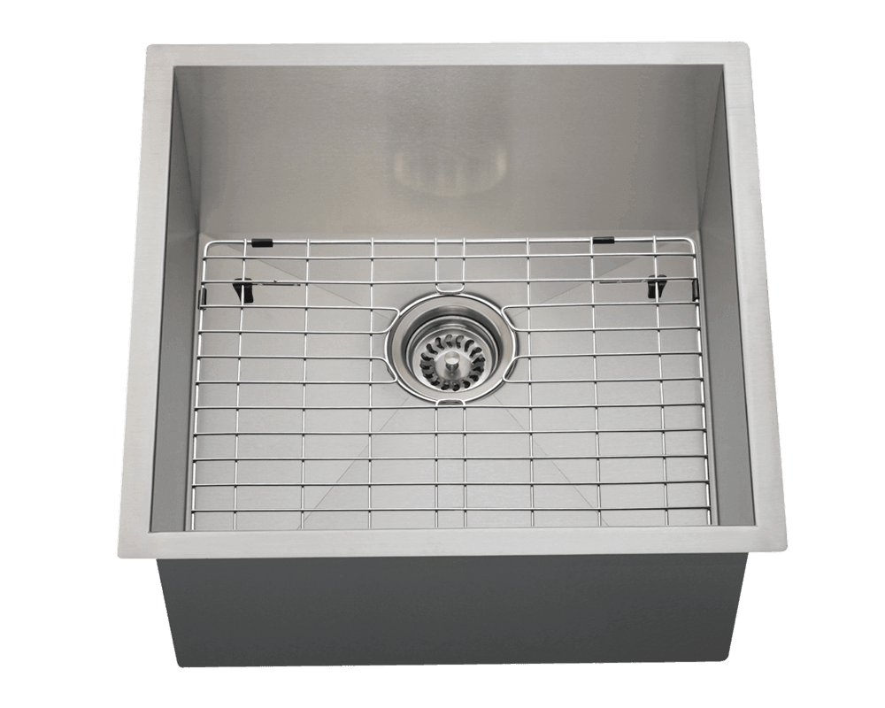 2321S Alt Image: 304-Grade Stainless Steel Rectangle Undermount One Bowl Kitchen Sink