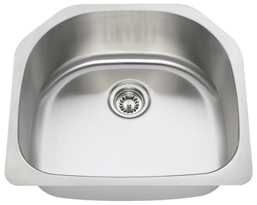 MR Direct 2421 2421 D-Bowl Stainless Steel Kitchen Sink