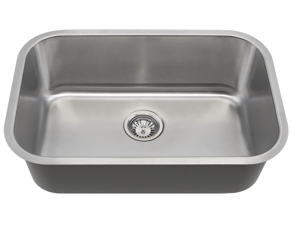 MR Direct 2718 Single Bowl Undermount Stainless Steel Sink