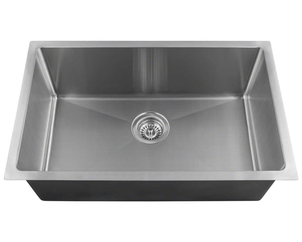 "MR Direct 2920S Single Bowl 3/4"" Radius Stainless Steel Sink"