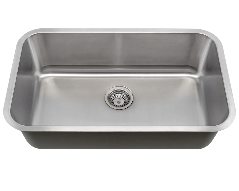 MR Direct 3018 Single Bowl Undermount Stainless Steel Sink