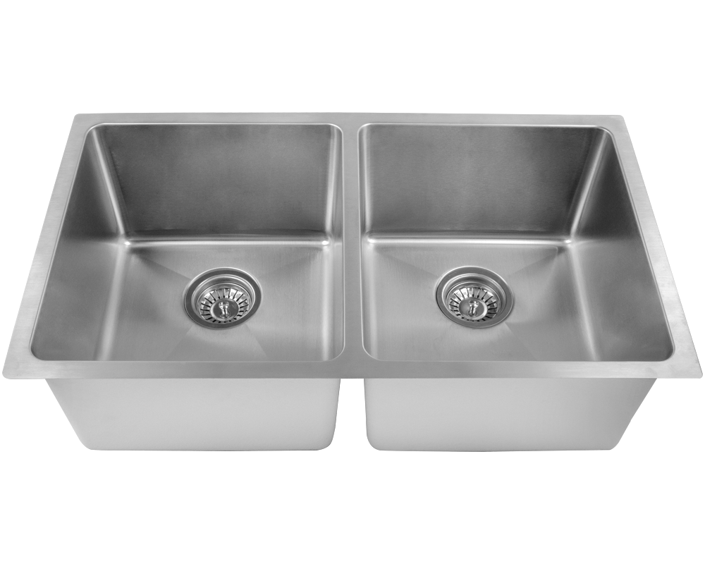 "MR Direct 3109D Double Bowl 3/4"" Radius Stainless Steel Sink"