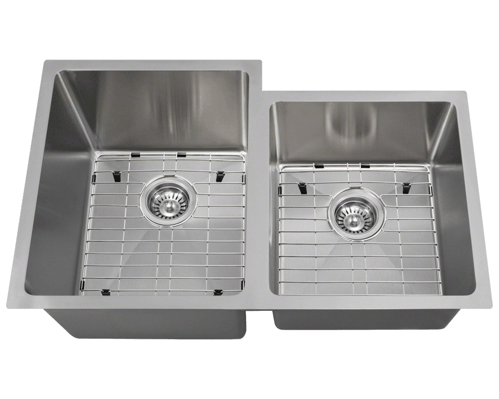 3120L Alt Image: 304-Grade Stainless Steel Undermount Two Bowls Limited Lifetime Kitchen Sink