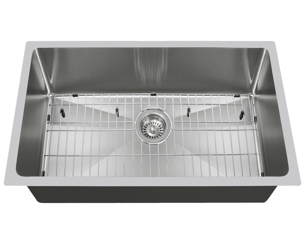 3120S-SLBL Alt Image: 304-Grade Stainless Steel Undermount to Laminate One Bowl Limited Lifetime Kitchen Sink