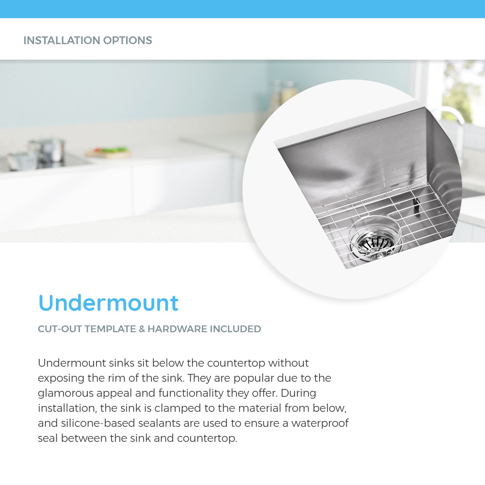 Stainless steel undermount sink