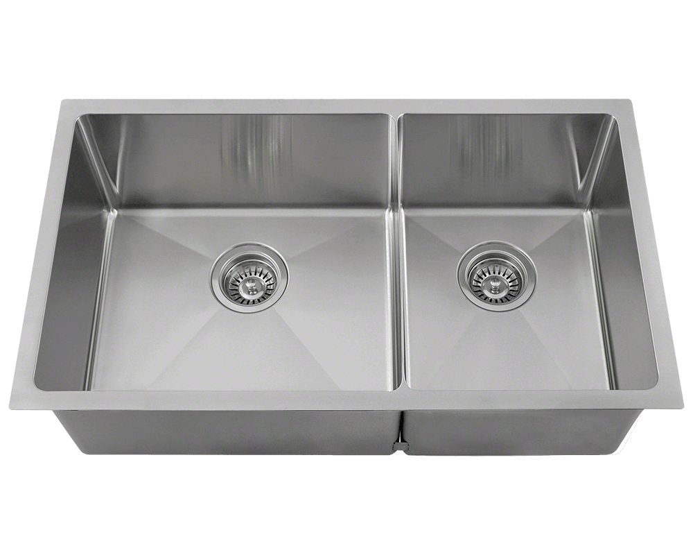 "MR Direct 3160L-16 Double Bowl 3/4"" Stainless Steel Sink"