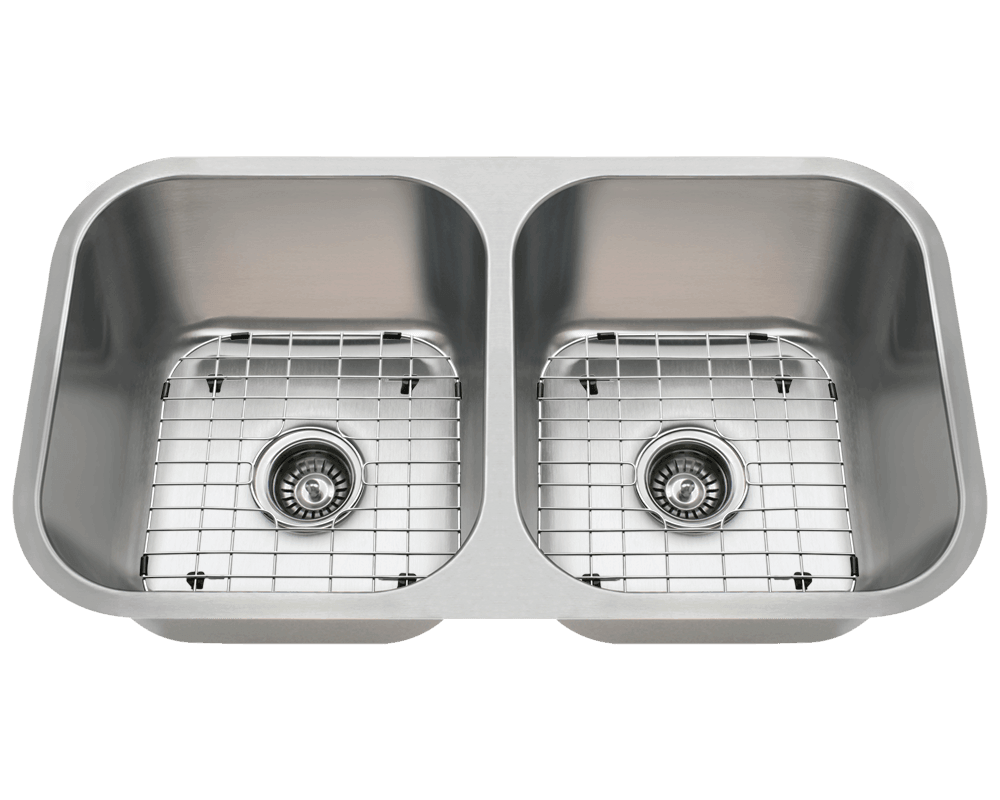 3218a double bowl stainless steel kitchen sink rh mrdirectint com undermount double bowl kitchen sink stainless steel double undermount kitchen sink
