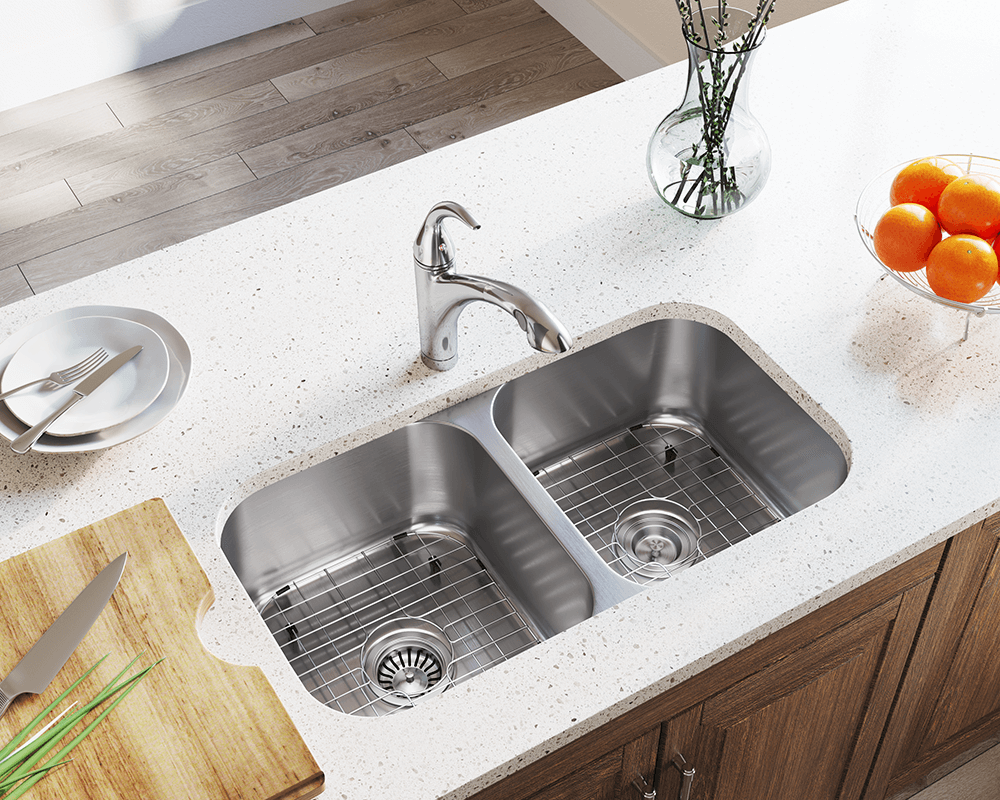 Undermount Stainless Steel Kitchen Sink And Faucet Set
