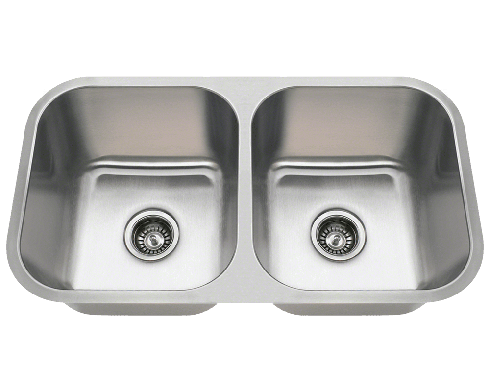 3218a double bowl undermount stainless steel sink - Undermount Kitchen Sinks