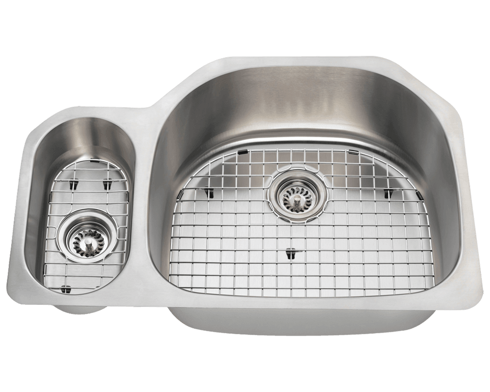 3221R Alt Image: 304-Grade Stainless Steel Rectangle Two Bowls Undermount Kitchen Sink