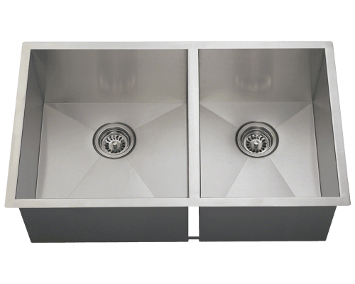 3322OL Double Rectangular Stainless Steel Sink