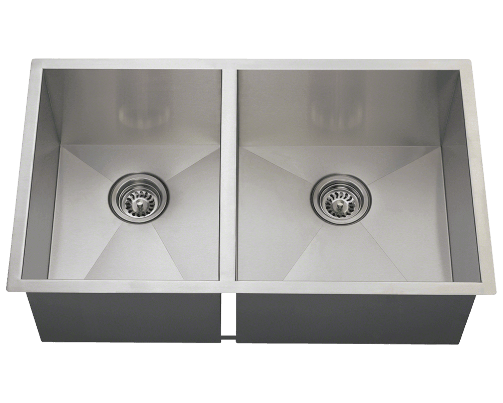 One Bowl Stainless Steel Kitchen Sinks 3322or double rectangular stainless steel kitchen sink workwithnaturefo