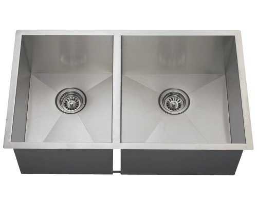 3322OR Double Rectangular Stainless Steel Kitchen Sink