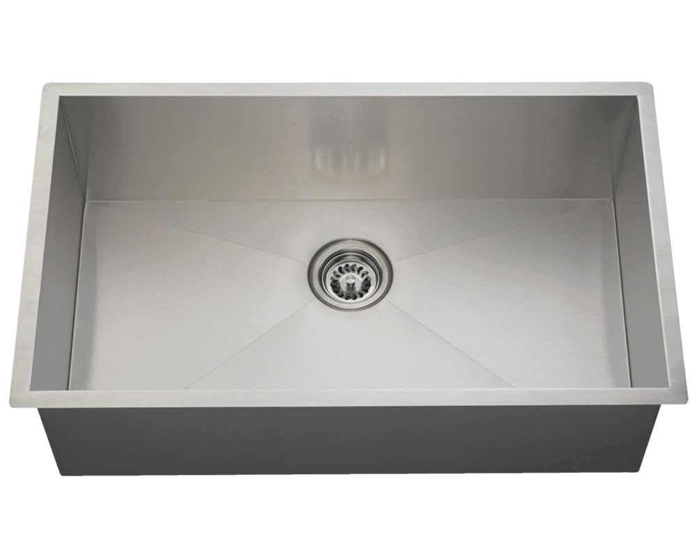 MR Direct 3322S Industrial Rectangular Stainless Steel Sink