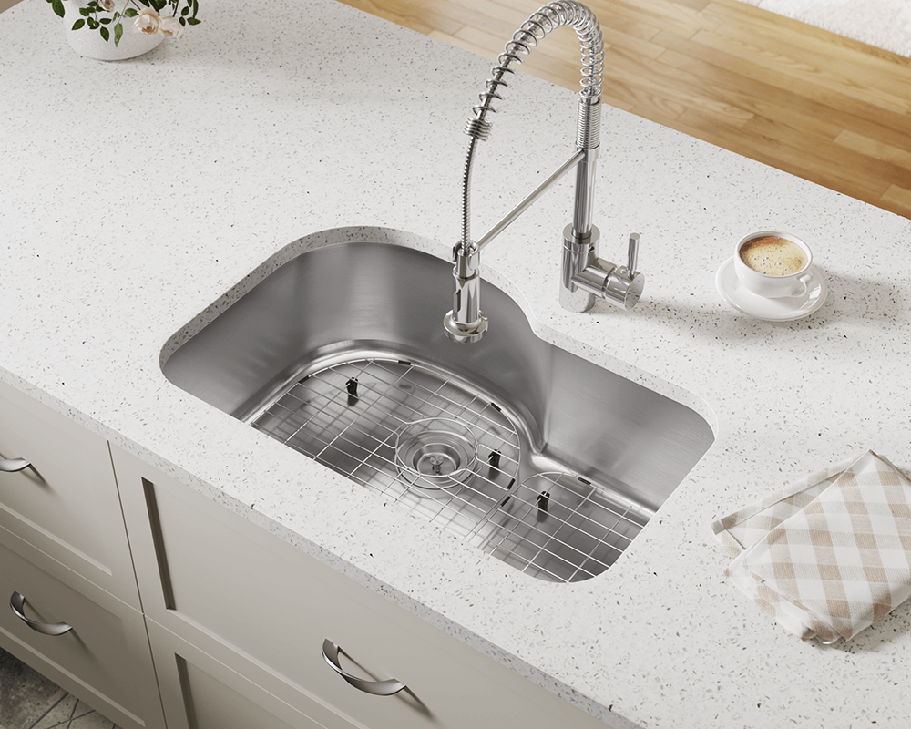 346 Lifestyle Image: 304-Grade Stainless Steel Rectangle Undermount One Bowl Kitchen Sink
