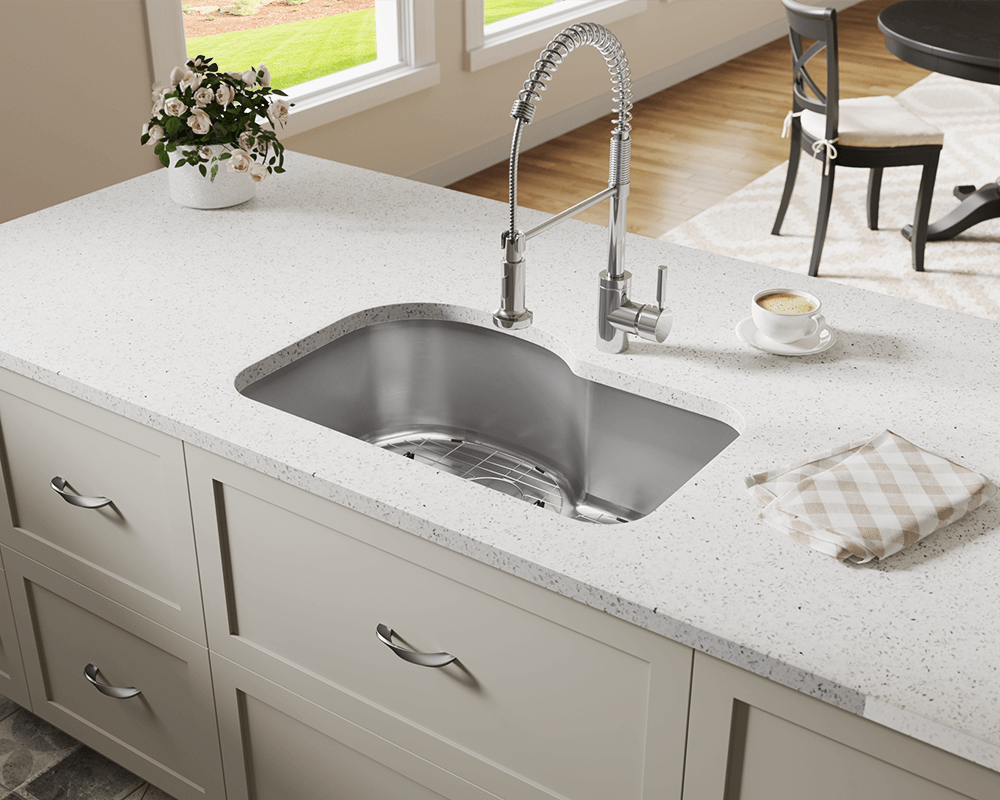 346 Lifestyle Image: 304-Grade Stainless Steel Rectangle One Bowl Undermount Kitchen Sink