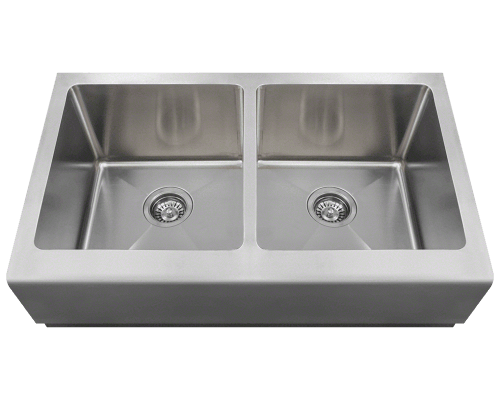 406 Double Equal Bowl Apron Sink