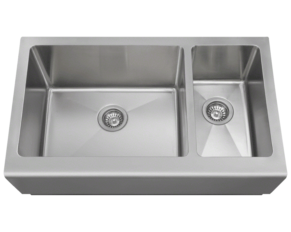 MR Direct 407L Offset Apron Sink