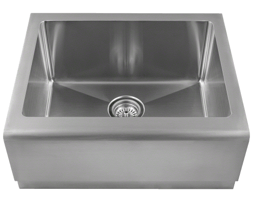 408 single bowl stainless steel apron sink