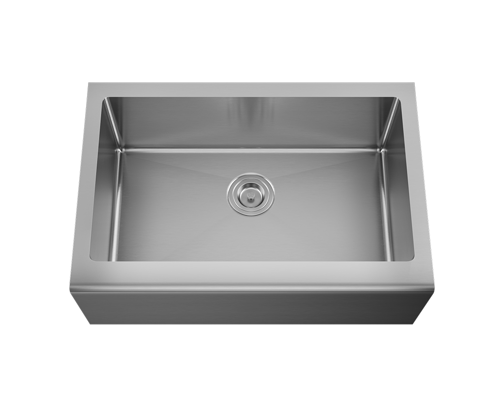 MR Direct 409 Single Bowl Stainless Steel Apron Sink