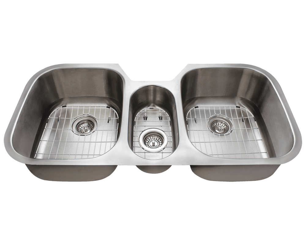 4251 triple bowl stainless steel sink - Three Compartment Kitchen Sink