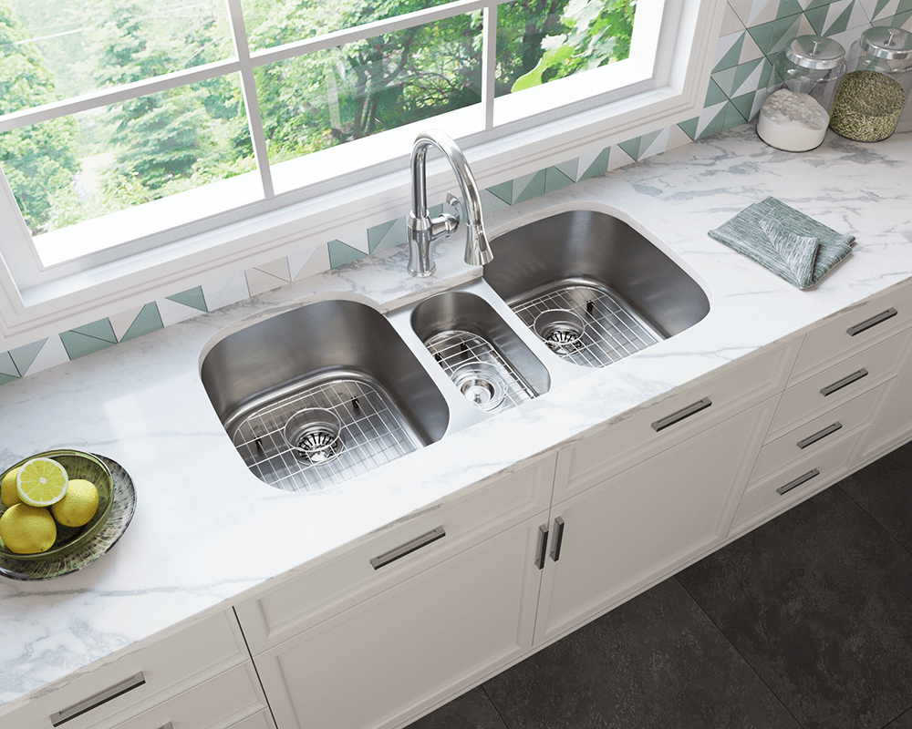 triple kitchen sinks