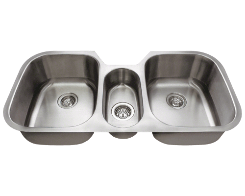 4521 Triple Bowl Stainless Steel