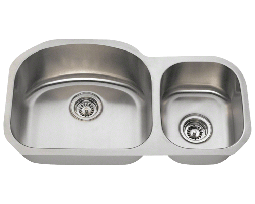 MR Direct 501L 501L Offset Stainless Steel Kitchen Sink