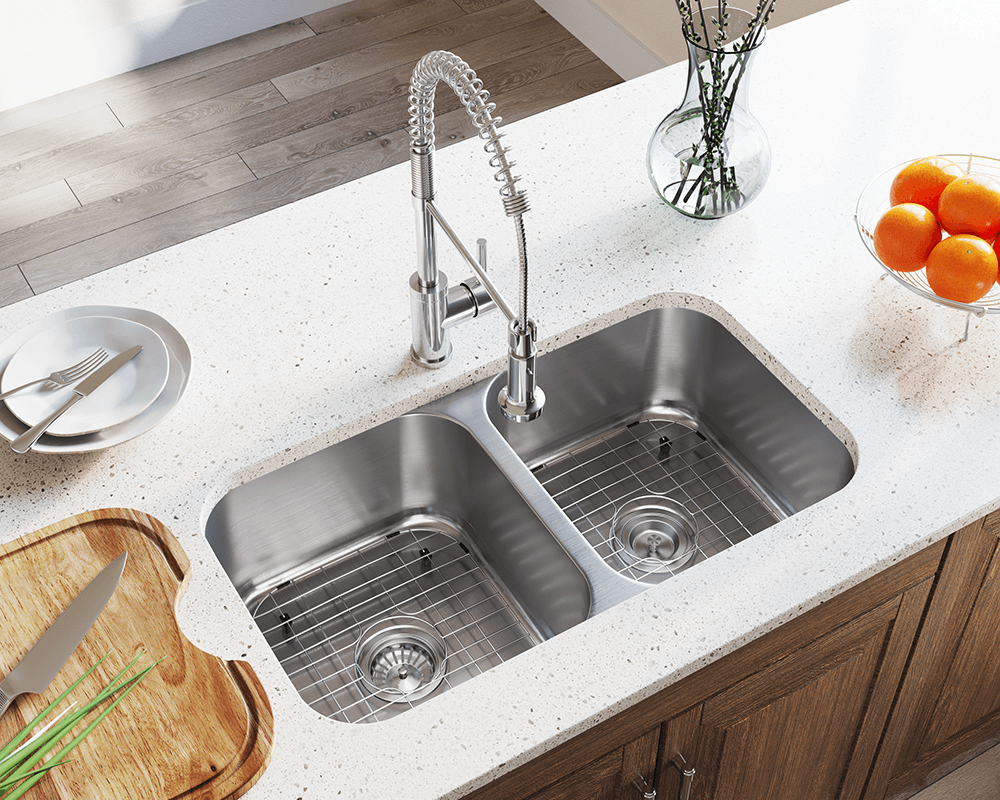 502a double bowl stainless steel kitchen sink - Kitchen Sink Double