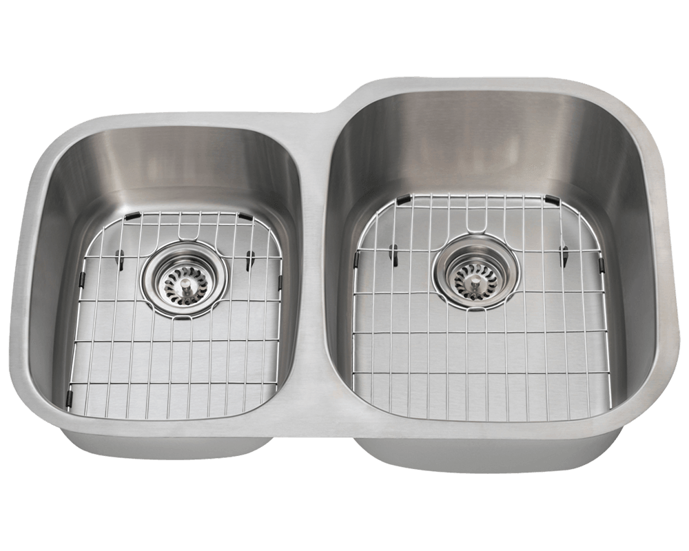 503R Alt Image: 304-Grade Stainless Steel Rectangle Two Bowls Undermount Kitchen Sink