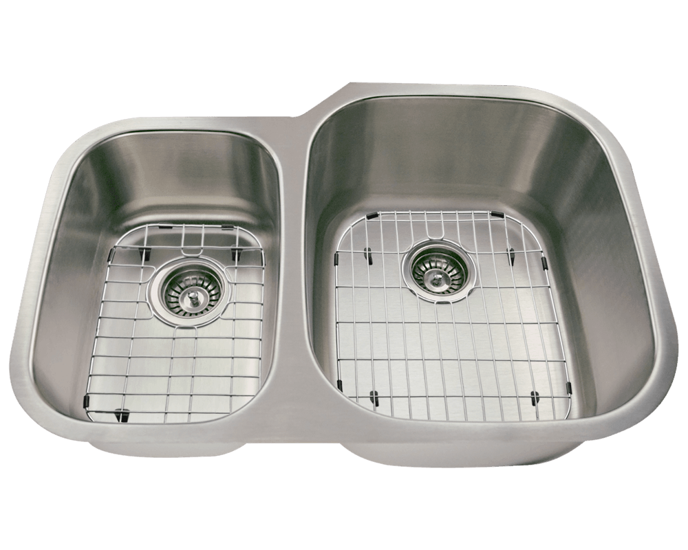 506R Alt Image: 304-Grade Stainless Steel Rectangle Two Bowls Undermount Kitchen Sink