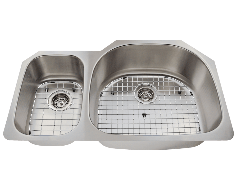 509R Alt Image: 304-Grade Stainless Steel Rectangle Two Bowls Undermount Kitchen Sink