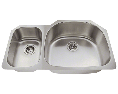 MR Direct 509R 509R Offset Stainless Steel Kitchen Sink