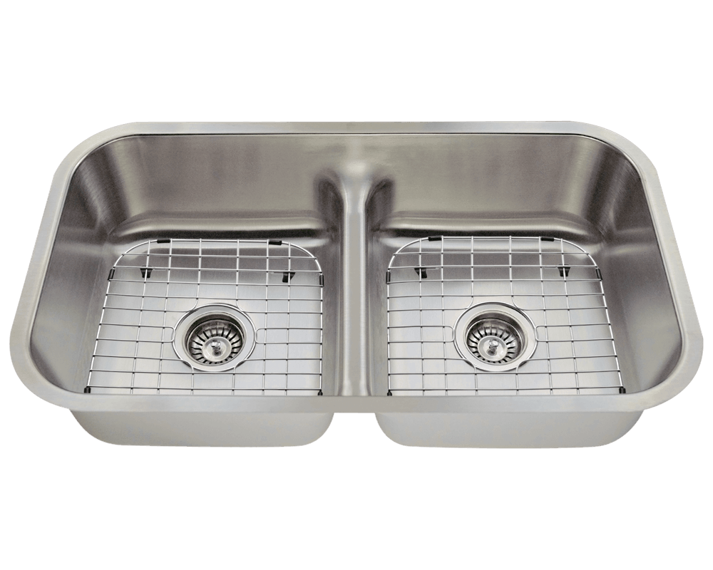 512 Alt Image: 304-Grade Stainless Steel Rectangle Two Bowls Undermount Kitchen Sink