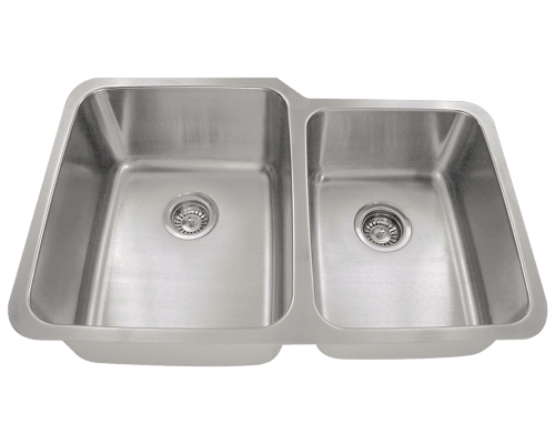 513L Offset Double Bowl Stainless Steel Sink
