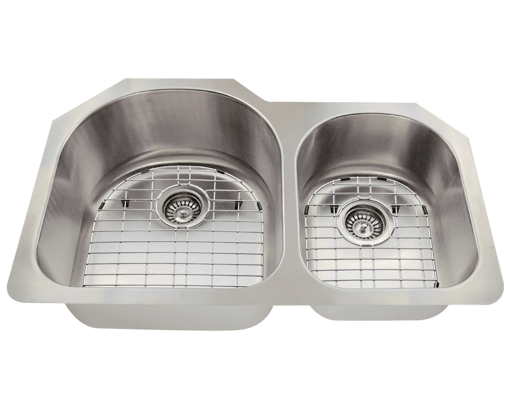 532L Alt Image: 304-Grade Stainless Steel Undermount Two Bowls Limited Lifetime Kitchen Sink