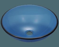 601 Aqua Colored Gl Vessel Sink