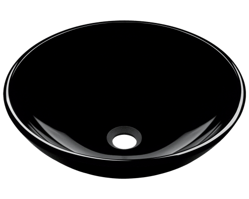 601-Black Dark Colored Glass Vessel Sink