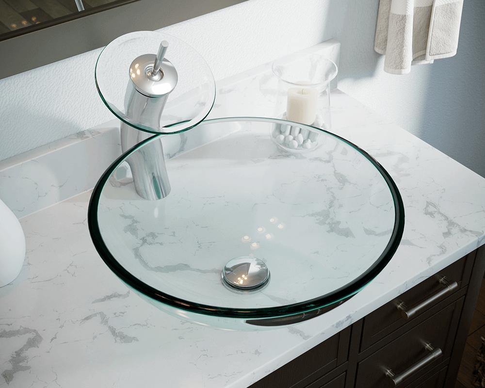 601 Crystal Glass Vessel Sink