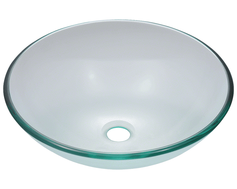 601 Crystal. 601 Crystal Glass Vessel Sink