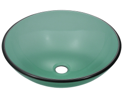 601 Emerald Colored Gl Vessel Sink