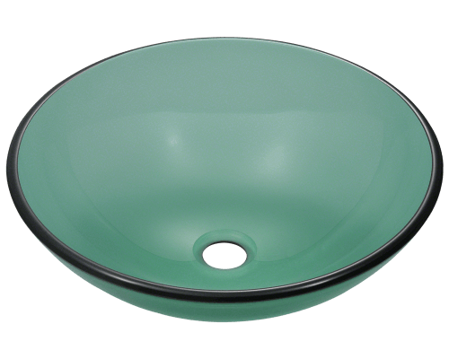 601-Emerald Colored Glass Vessel Sink